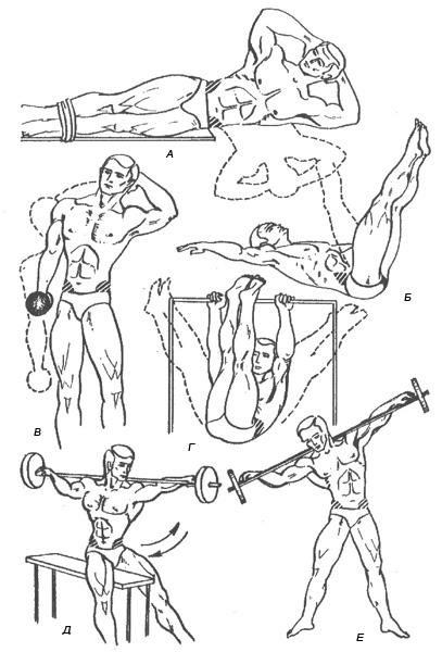 Упражнения для косых мышц живота